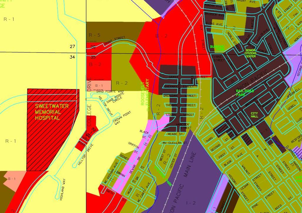 Zoning Map Section