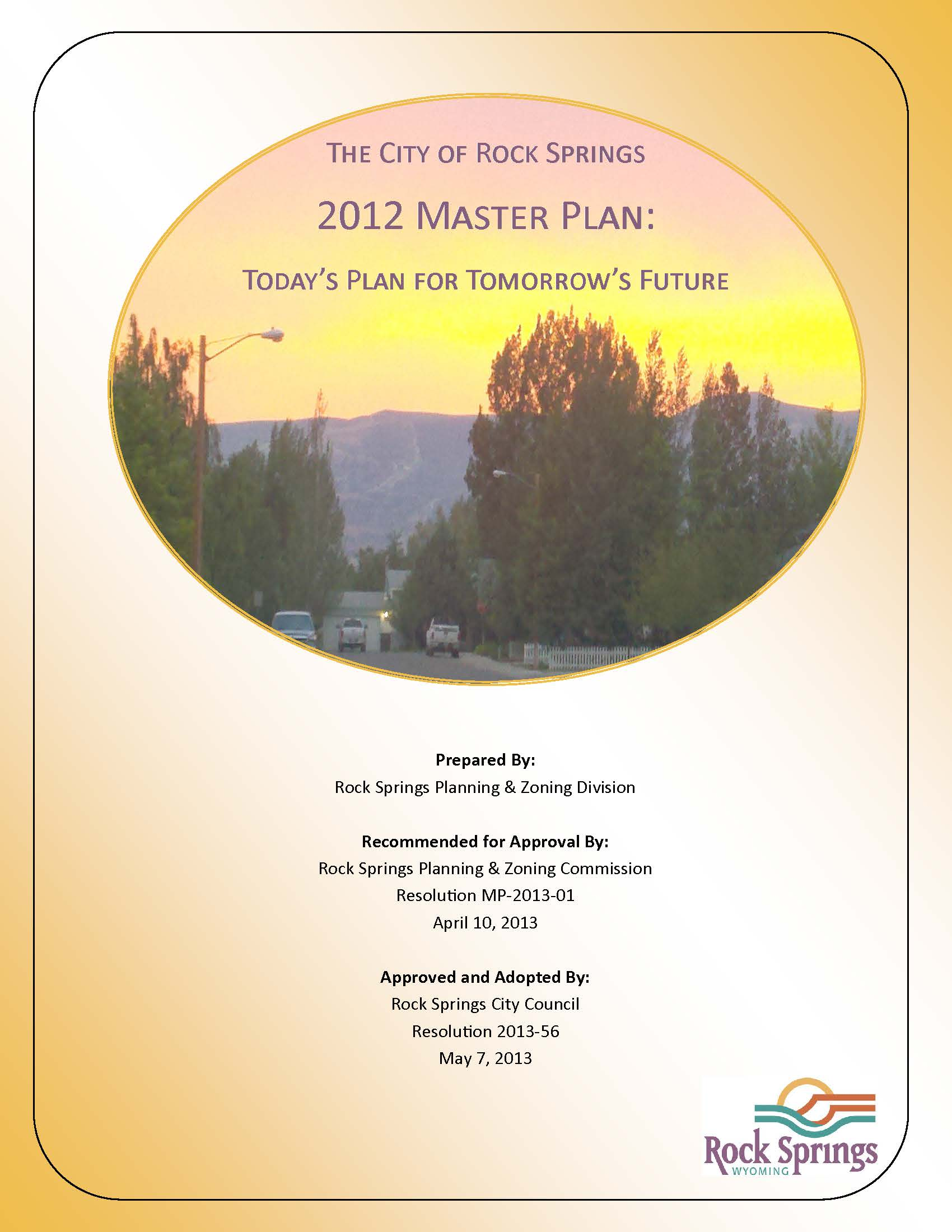 2012 Master Plan Cover