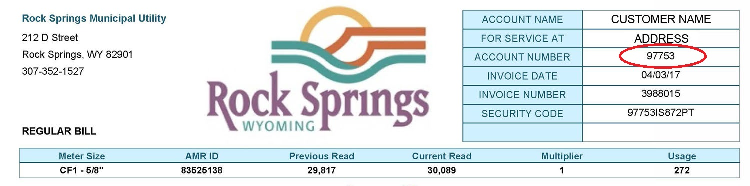 Document Center / Pay Your Water Bill Online / City of Rock Springs